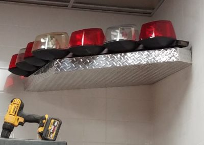 Aluminum Tread Plate Multi Angled Shelf