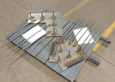 Steel Plates w/Rebar & Anchors for Curtain Wall Anchor