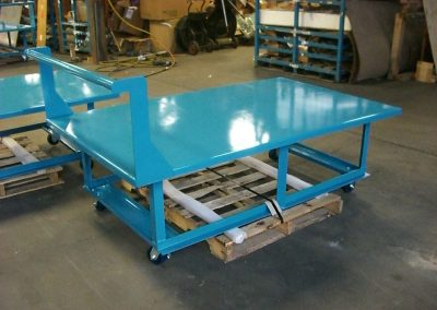 Heavy Duty Welded Table for Moving Parts to Assembly Stations