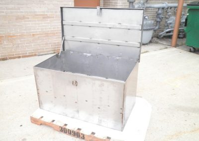 Stainless Steel Storage/Secure Box w/Hinge & Gasket