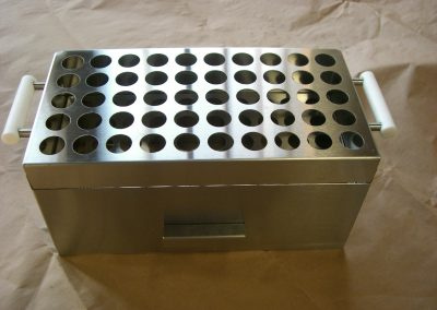Brushed Stainless Steel Assembled Hinged Box